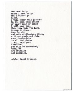 Typewriter Series #746 by Tyler Knott Gregson