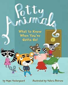 Potty Animals for toddlers & preschool aged children potty training and learning appropriate bathroom/potty manners