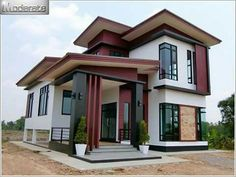 Modern Single Detached House - House And Decors Two Story House Design, Simple House Design, House Front Design, Minimalist House Design, Modern House Design, Modern Zen House, Philippines House Design, House Plans For Sale, Philippine Houses
