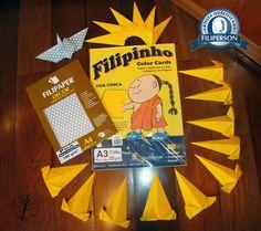 [ Segundo post do mês de março de 2016 –  Papéis utilizados: Filipinho Color Cards A3 (branco e amarelo) e Filipaper Decor Poá Prata A4. Mais informações sobre os papéis na loja virtual: www.lojafilipaper.com.br