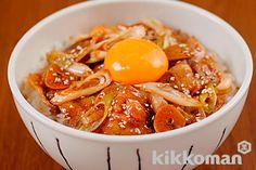 【にんにくしょうゆのスタミナ丼】のレシピをご紹介。豚肉とねぎを使って簡単お手軽に調理できます。炒め物や煮物から揚げ物まで様々な献立レシピを簡単検索!お弁当や健康(ダイエット)レシピもご用意しています。キッコーマンのレシピサイト【ホームクッキング】/ ※にんにくは食べ過ぎると赤血球が溶け出しますので, 1日に大きいの1粒位が適当かと…
