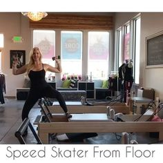 """418 Likes, 6 Comments - Tiffany Crosswhite Burke (@poiseandstrengthpilates) on Instagram: """"Working those outer thighs (abductors) and arms with this Speed Skater from the floor. My had…"""""""