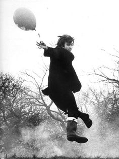 """""""We want our idols to be dead because it makes death a much less scary place.... """" -Doug Coupland ........John Lennon, lifting off...... #JohnLennon #TheBeatles #Beatles"""