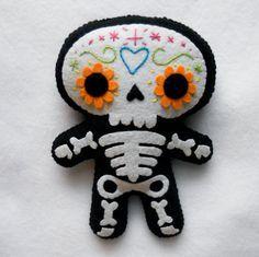 felt skull dolls - Google Search