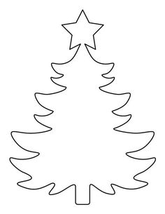 Free Christmas tree templates you can print out and decorate for craft projects. These Christmas tree templates come in different sizes and shapes.christmas tree stand black and white clip artA Christmas tree template with a star on top Christmas Tree Stencil, Christmas Tree Printable, Christmas Tree Coloring Page, Christmas Tree Template, Large Christmas Tree, Christmas Applique, Christmas Tree Pattern, Free Christmas Printables, Christmas Wood