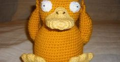 Well being on a bit of a Pokemon kick lately ...  I made a Psyduck for the girls.  (I may keep it tho, cause I'm quite fond of Psyduck). ...