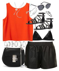 Outfit for a summer party by ferned on Polyvore featuring polyvore, fashion, style, Monki, Topshop, T By Alexander Wang, Christian Dior, Yves Saint Laurent, Chloé, Forever 21 and Monica Vinader