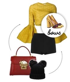 """""""Untitled #567"""" by syanindhtdonner ❤ liked on Polyvore featuring Christian Siriano, Balmain, Gucci and Dolce&Gabbana"""