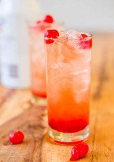 Malibu Sunset {Pineapple-Orange Juice, Malibu Coconut Rum, Grenadine, & Maraschino Cherries} by LaVeed