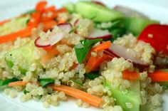 I had a Quinoa Salad pretty similar to this that a friend made. Both Chelsea and I loved it, so...I think I'm going to have to make it now.