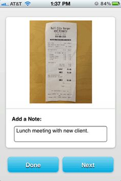 Shoeboxed Receipt Tracker and Reader iPhone & Android App