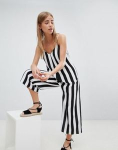 Nobody's Child Cami Jumpsuit In Stripe