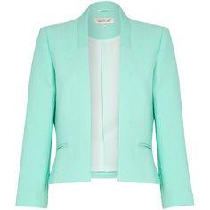 Damsel in a dress Myriad Jacket , Green found on Polyvore