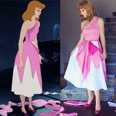 Need an impressive outfit this Halloween party? Get yourself one of these Need an impressive outfit this Halloween party? Get yourself one of these Halloween outfits. Cinderella's Pink Dress. Disney Halloween, Halloween Outfits, Cinderella Halloween Costume, Clever Halloween Costumes, Cute Costumes, Cosplay Costumes, Halloween Party, Disney Costumes For Women, Cinderella Cosplay