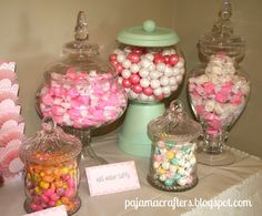 Adorable Candy Buffet from Pajama Crafters