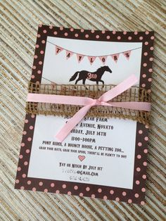Printable Pony / Horse Birthday Party Invitation by Shanzusc, $15.00