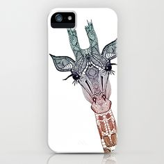 GiRAFFE iPhone & iPod Case #giraffe #cute #iphone