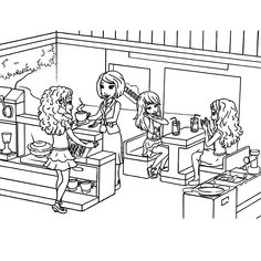 Print this Lego friends coloring sheet | Lego Coloring Pages ...