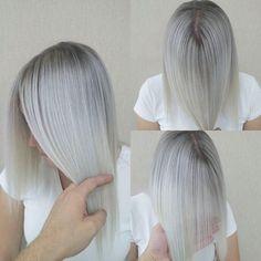 Ash Hair, Gorgeous Hair, Hair Makeup, Hair Cuts, Hairstyle, Instagram Posts, Boss, Colour, Haircuts