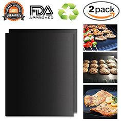 Portin BBQ Grill Mats & Baking Mat Set of 2, Non-stick Grill Mat- FDA Approved, PFOA Free, Reusable and Easy to Clean - Works on Gas Charcoal Electric Grill Ovens and More, 15.75 X 13 Inches - Product features: 1.Teflon Fiber material and Non toxic 1.FDA approved and PFOA Free 2.100% Non-stick 3.Heat resistant up to 500F 4.Reusable and durable 5.Easy to clean with soapy water and dishwasher safe 6.Cook without oil or fats, more healthy and eco-friendly 7.Foods retain more vitamins and ...