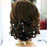 Miya® 4 Stück 1,3m schöne weiß Perlengirlande Braut Harr Accessoires, Braut Hochzeit Haarschmuck, Hochzeit Deko, Tisch deko