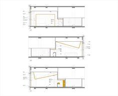 7 Molinos / Tacoa Arquitetos - O vão formado pela ausência das fitas servem como saída do ar-condicionado. No forro as fitas se descolam da superfície da laje e, cada uma com um desenho diferente, servem de suporte às luminárias.