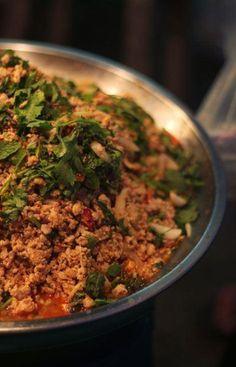 Laab Moo - Spicy Pork Salad (Isaan Style Thai Food)