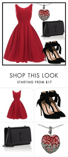 """""""Set-1"""" by milla-vi ❤ liked on Polyvore featuring Gianvito Rossi, Yves Saint Laurent and Lord & Taylor"""