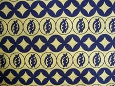 """This 100% cotton African fabric has a cream background with black gye nyame symbols and designs (112-Y61). This fabric is sold by the yard (36""""w x 45""""l). Fat Quarters are available. Wholesale and international shipping."""