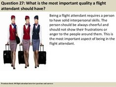 Question What is the most important quality a flight attendant should have? … Question What is the most important quality a flight attendant should have? Being a flight attendant requires a person… Become A Flight Attendant, Flight Attendant Humor, Interview Questions And Answers, Job Interview Tips, Flight Attendant Interview Questions, Cabin Crew Jobs, Aviation Careers, Relationship Goals Tumblr, Job Info