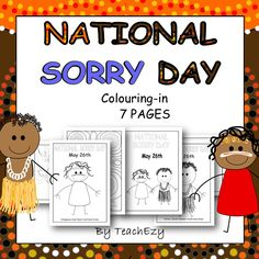 National Sorry Day colouring printables. National Sorry Day, Naidoc Week, Writing Practice Worksheets, Aboriginal Culture, Australian Curriculum, School Themes, Colouring Pages, Childcare