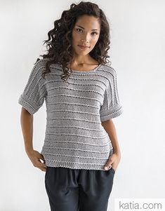 Book Woman Chic 97 Spring / Summer | 11: Woman Sweater | Medium grey