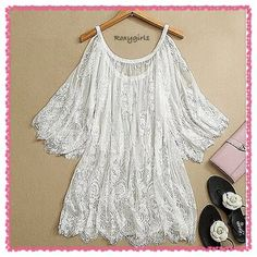 """Adorable Lace Bohemian Cold Shoulder Tunic Adorable Lace Bohemian Cold Shoulder Tunic Sheer White with Floral Design and Fringe Looks Great with a pair of Skinnies or Capris! Could also be used as a swimsuit cover-up the possibilities are endless! Fits true to size Approximate Measurements Bust: 35"""" Length: 31.5"""" Armpit to Armpit: 21.5"""" ❌NO TRADE❌ Boutique Tops Tunics"""