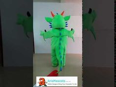 Adult Size Green Dragon mascot costume