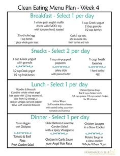 A printable free clean eating meal plan on a budget for an entire week's worth of clean eating breakfasts, lunches, dinners and snacks.