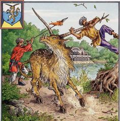 Yale/Centicore- European folklore: a goat like creature, a little bigger than a horse that had boar tusks and two swiveling horns that can be positioned every which way. In heraldry it meant proud deference