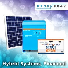 Regenergy offers hybrid solar systems tailored to suit your needs. Finance available. Contact us today! Renewable Energy, Solar Energy, Solar Power, Solar Companies, Solar Solutions, Suits You, Solar System, Finance, Shed