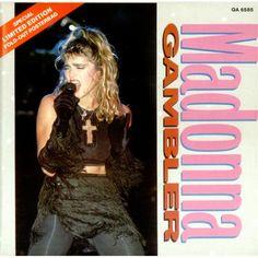 "madonna 80's posters | Madonna Gambler - Poster Sleeve UK 7"" Vinyl Record QA6585 Gambler ..."