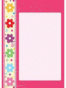 A imprimer, un joli papier à lettre orné de petites fleurs sur le côté