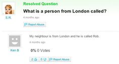 This important question and answer. | 32 Pictures That Will Make Londoners Laugh Every Single Time