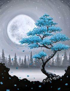 ציורים Learn The Basic Acrylic Painting Techniques for Beginners- Ideas and Projects Simple Acrylic Paintings, Easy Paintings, Acrylic Painting Canvas, Acrylic Art, Moon Painting, Painting Art, Purple Painting, Diy Canvas Art, Canvas Canvas