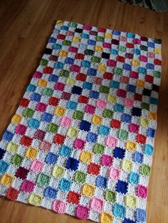 small granny square baby blanket full view | Flickr - Photo Sharing!