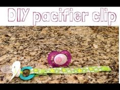 Pacifier Clip Tutorial (NO SEW) works with MAM and ring style pacifiers