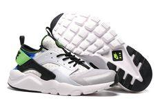 new products 78132 ad042 pas cher nike huarache nike air huarache blanche et noir et verte homme