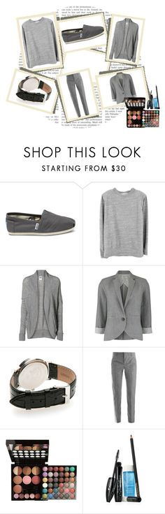 """""""Abnegation Outfit"""" by lunainthetardis ❤ liked on Polyvore featuring TOMS, Our Legacy, Vero Moda, People Tree, Lucien Pellat-Finet, Jil Sander, NYX, Lancôme, grey and abnegation"""