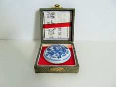 Vintage 1930s Chinese Seal Ink Kit by SeedAndVine on Etsy