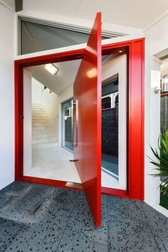 Red at the doorway ushers in wealth!