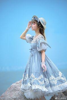 Kawaii Fashion, Lolita Fashion, Fashion Beauty, Girl Fashion, Fashion Design, Dress Outfits, Fashion Dresses, Dress Up, Cute Outfits