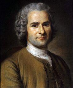 Морис Кантен де Латур. Портрет Руссо, 1753. Мужская прическа. XVIII век. Мода на античные прически