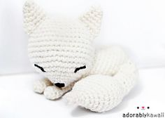 Sleepy Fox is Adorably Kawaii's mascot! Originally designed in 2011. To make the Fennec Fox version, see my project page for the modifications.